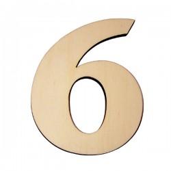 Domové číslo popisné DREVO č.6