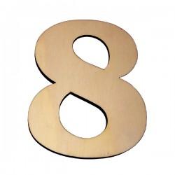 Domové číslo popisné DREVO č.8