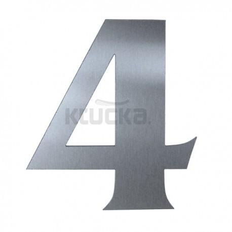 Domové číslo popisné 120mm nerez č.4