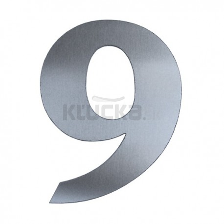 Domové číslo popisné 120mm nerez č.9
