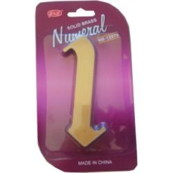 """Číslo fasádne """" 1 """" bronz 125mm"""