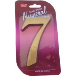 """Číslo fasádne """" 7 """" bronz 125mm"""