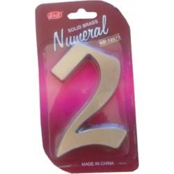 """Číslo fasádne """" 2 """" Ni-sat 125mm"""