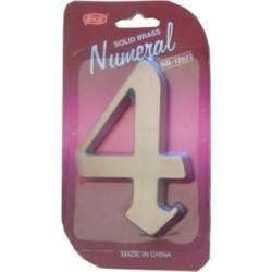 """Číslo fasádne """" 4 """" Ni-sat 125mm"""