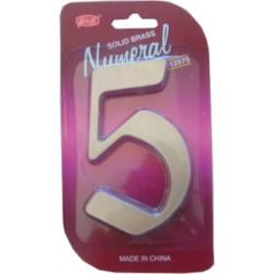 """Číslo fasádne """" 5 """" Ni-sat 125mm"""