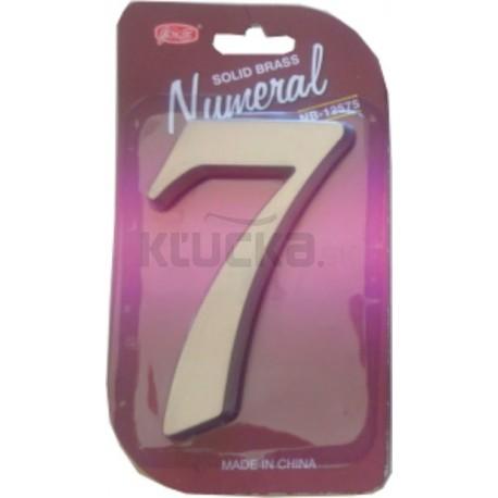 """Číslo fasádne """" 7 """" Ni-sat 125mm"""