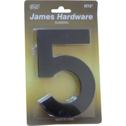 """Číslica """"5"""" fasádna 152mm čierna matná"""