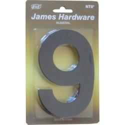 """Číslica """"9"""" fasádna 152mm čierna matná"""