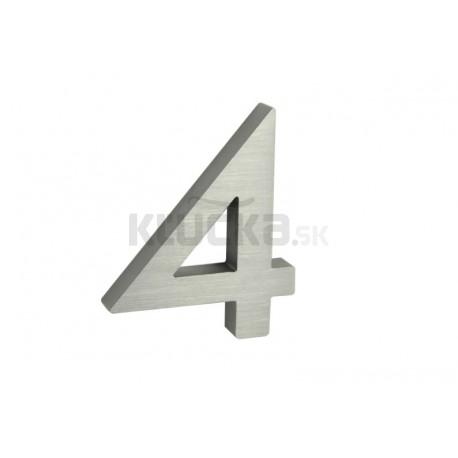 """Číslo """"4"""" 3D 100mm Al"""