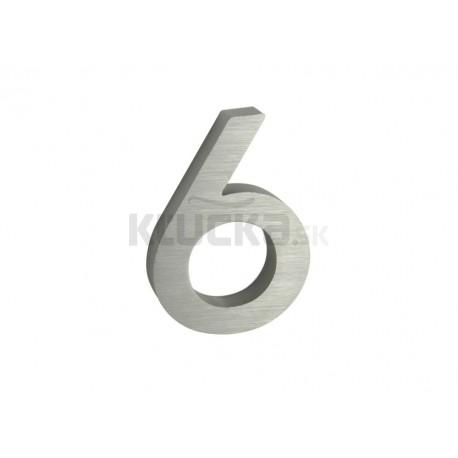 """Číslo """"6"""" 3D 100mm Al"""