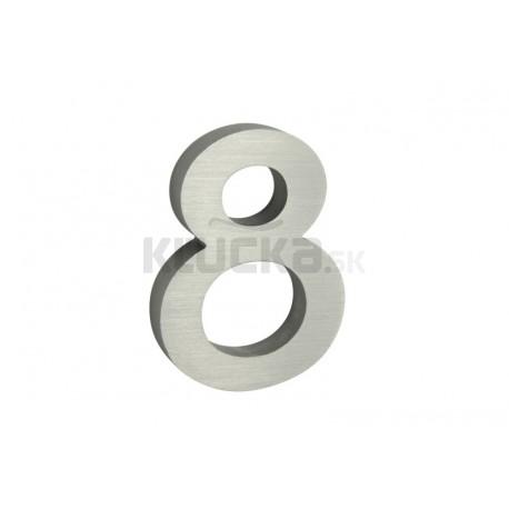 """Číslo """"8"""" 3D 100mm Al"""