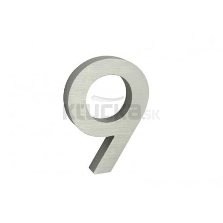 """Číslo """"9"""" 3D 100mm Al"""