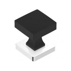 Guľa štvorcová čierna chróm