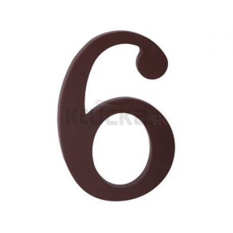 """domove číslo 175mm hnedé """"6"""""""