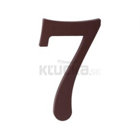 """domove číslo 175mm hnedé """"7"""""""