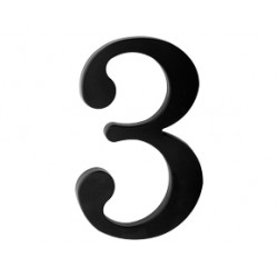 "domove číslo 175mm čierne ""3"""