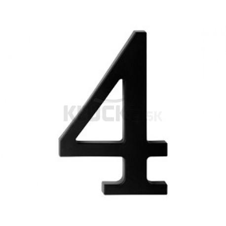 "domove číslo 180mm čierne ""4"""