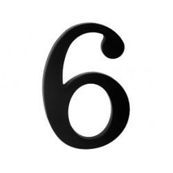"domove číslo 180mm čierne ""6"""
