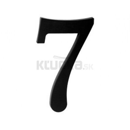 "domove číslo 180mm čierne ""7"""