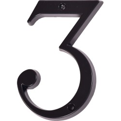"Číslo "" 3 "" čierne 120mm"