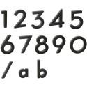 """Číslica """" a """" 3D čierna 100mm"""
