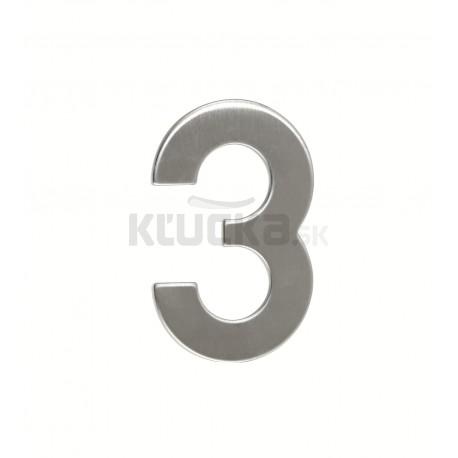 """Číslica """"3"""" 95mm nerez"""