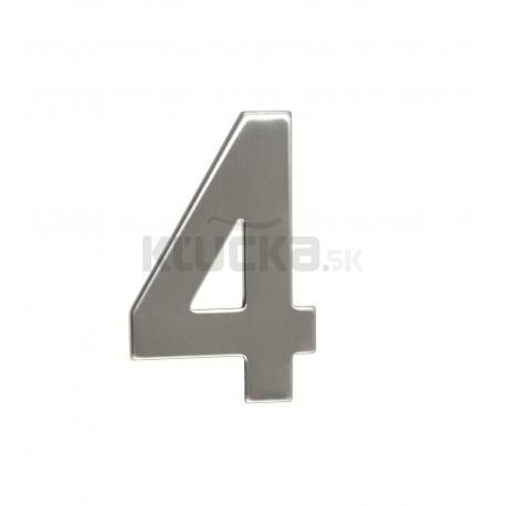 """Číslica """"4"""" 95mm nerez"""