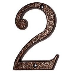 "Číslo "" 2 "" medený antik 120mm"