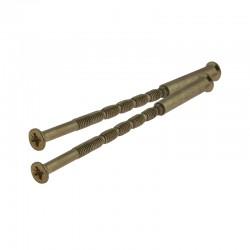 Montážne skrutky spojovacie 80mm bronz