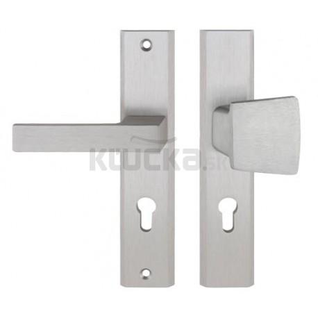 TOTAL vchodová kľučka-madlo INOX pravá