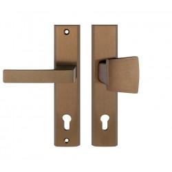 TOTAL vchodová kľučka-madlo bronz pravá