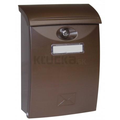 BK03 hnedá plastová schránka
