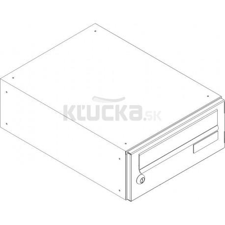 SJ 300/90 poštová schránka jednostranná RAL