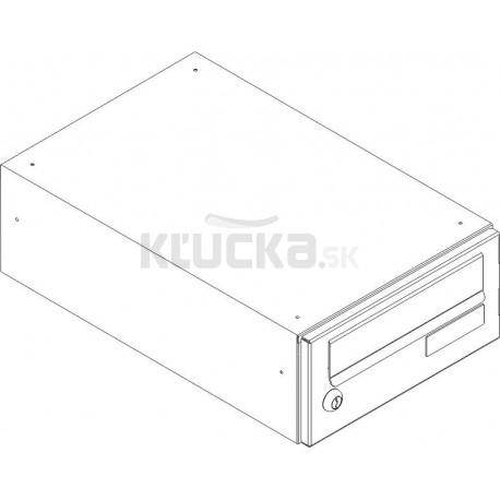 SJ 260/110 poštová schránka jednostranná RAL