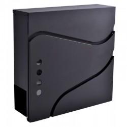 SVEN poštová schránka čierna