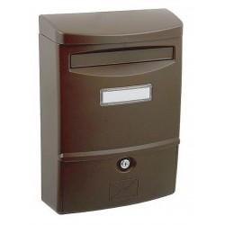 ABS 2 hnedá poštová schránka plast