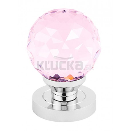 CRYSTAL guľa s okrúhlym štítom ružová GOCROC