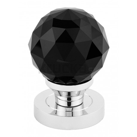 CRYSTAL guľa s okrúhlym štítom čierna