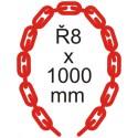 Bezpečnostná reťaz Ø 8mm x 1000mm