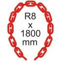 Bezpečnostná reťaz Ø 8mm x 1800mm