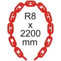 Bezpečnostná reťaz Ø 8mm x 2200mm