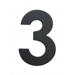 """RN.75L číslo """"3"""" 75 mm čierné matné"""