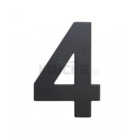 """RN.75L číslo """"4"""" 75 mm čierné matné"""