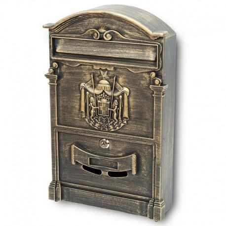 BK301 poštová schránka zlatý antik