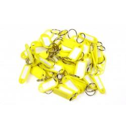 Plastová visačka jednostranná / sada 50ks žltá / RJ.48.ZLU.50KS