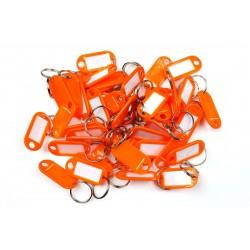 Plastová visačka jednostranná / sada 50ks oranžová / RJ.48.ORG.50KS