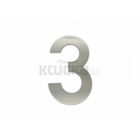 """Číslica """"3"""" fasádna 150mm NEREZ S"""