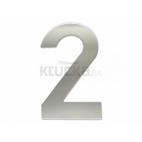 """Číslica """"2"""" fasádna 200mm NEREZ S"""