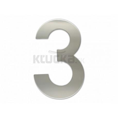 """Číslica """"3"""" fasádna 200mm NEREZ S"""
