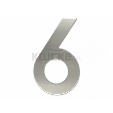 """Číslica """"6"""" fasádna 200mm NEREZ S"""